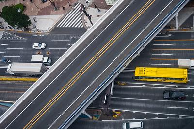 Roads in Tokyo.