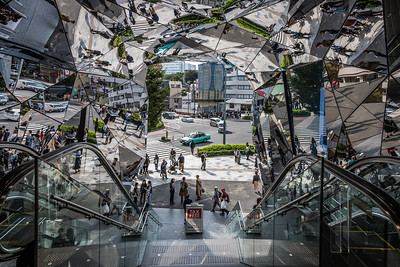 Entrance of Tokyu Plaza in Harajukuin Tokyo.