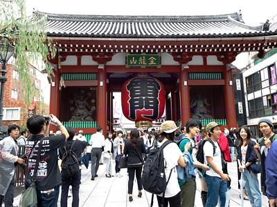 Sensoji Temple , If you can tough the Giant slipper , you can walk very far.  The inner shrine of the Bhuddist Sensoji Temple