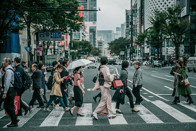 Kimono crossing.