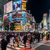 Busy Shibuya Crossing.