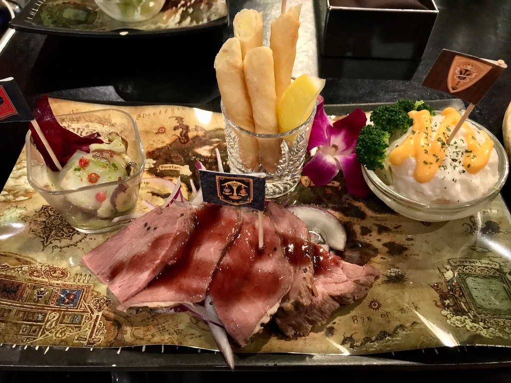 The Eorzea hors d'oeuvre platter is really best for sharing rather than eating on one's own!