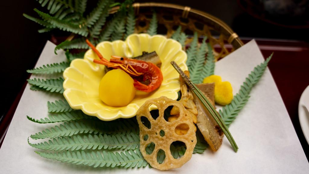 Shrimp and renkon (lotus root). Editorial credit: dach_chan / Shutterstock.com