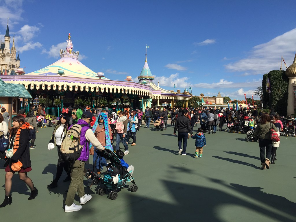 Moderate crowds in Fantasyland