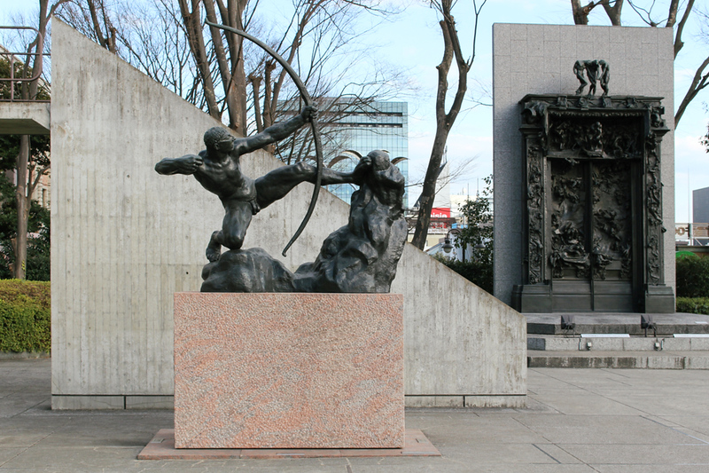 Sculptures outside the National Museum of Western Art. Editorial credit: Ned Snowman / Shutterstock.com