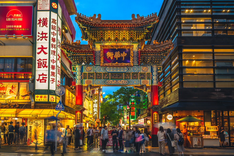 Chinatown district in Yokohama.. Editorial credit: Richie Chan / Shutterstock.com