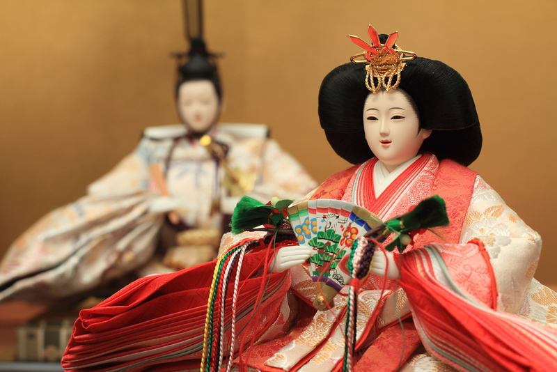 A finely carved and painted traditional Japanese 'hina' doll. Editorial credit: ziggy_mars / Shutterstock.com