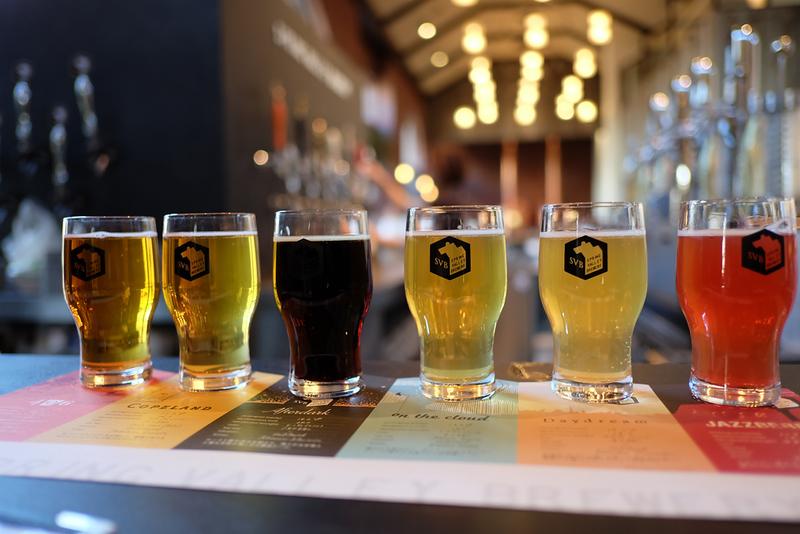 A craft beer flight in Yokohama's Kirin Brewery. Editorial credit: Kittipoom Ragtawat / Shutterstock.com