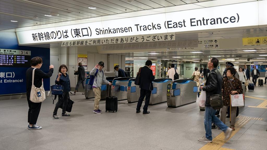 East entrance gate of Shin-Yokohama Station's Shinkansen. Editorial credit: dekitateyo / Shutterstock.com