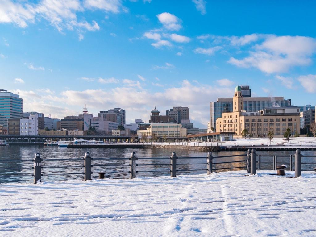 Winter scene of Yokohama