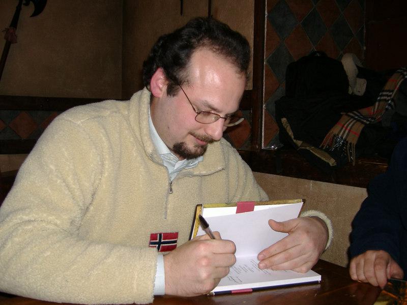 Birreria Avalon: raduno del gennaio 2006 - L'autografo del SaccentOne