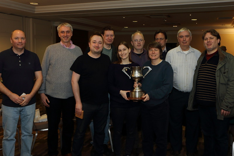 Tollemache Cup winners, 2017: London - Nick Sandqvist, David Ewart, Mike Bell, Tom Townsend, Sarah O'Connor, Phil King,  Heather Dhondy,  NPC Ian Payn,  Paul Lamford, and Kieran Dyke (Stelio Di Bello not pictured)