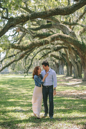 Tom + Ashleigh | Boone Hall Plantation Engagement South Carolina