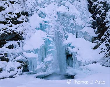 Winter Waterfall, Montana