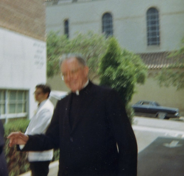 Cardinal McIntyre attedning  our wedding