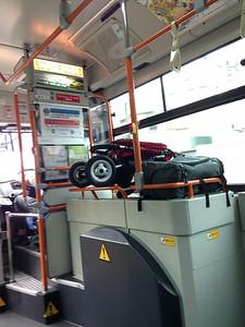 Tom Bihn Aeronaut on a Japanese bus.