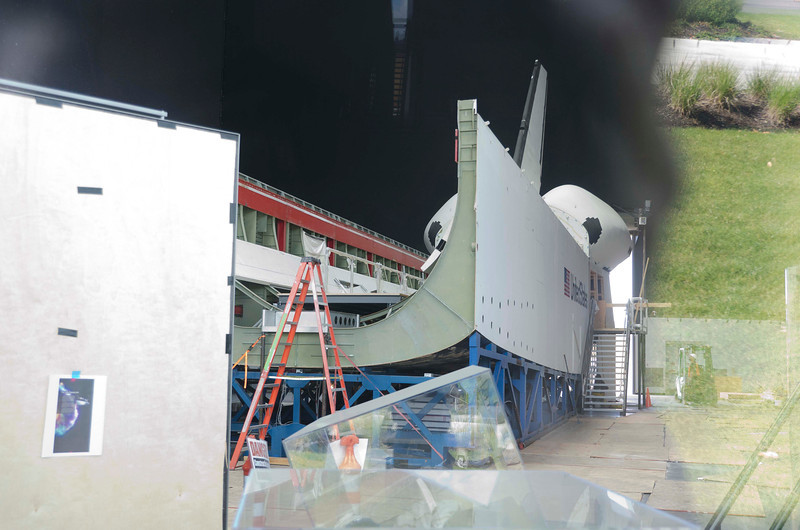 Start of reassembly of space shuttle cargo bay