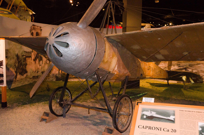 """Caproni Ca 20, Italy, 1914.  Ahead of it's time monoplane, better than any German or French fighter, but the Italian Gov't wasn't interested - """"Build Bombers"""".  Only this one built."""