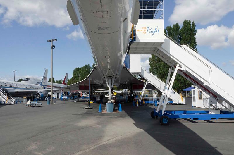 Concord - advanced aerodynamic shape allowed Mach 2 cruise.