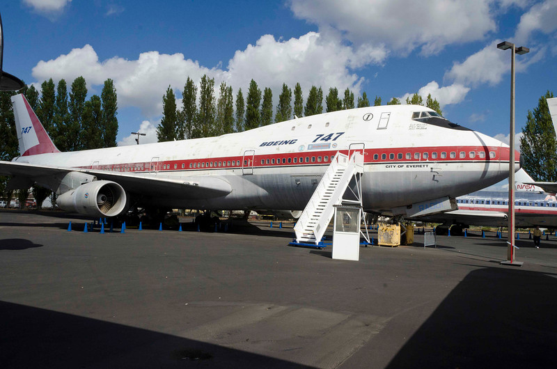 I think this was the prototype Boeing 747.