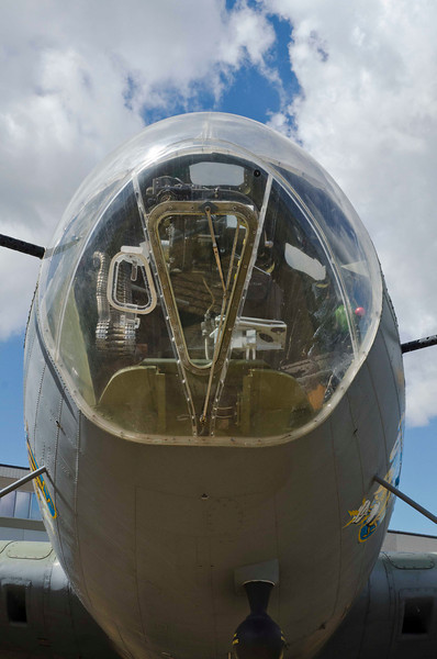 Boeing B-17F Flying Fortress, used in Memphis Bell and other movies.  Restored to flyable condition.