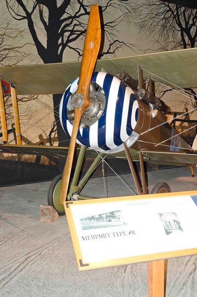 Nieuport Type 28, in paint scheme of Quentin Roosevelt, Son of Teddy Roosevelt, killed while fighting.