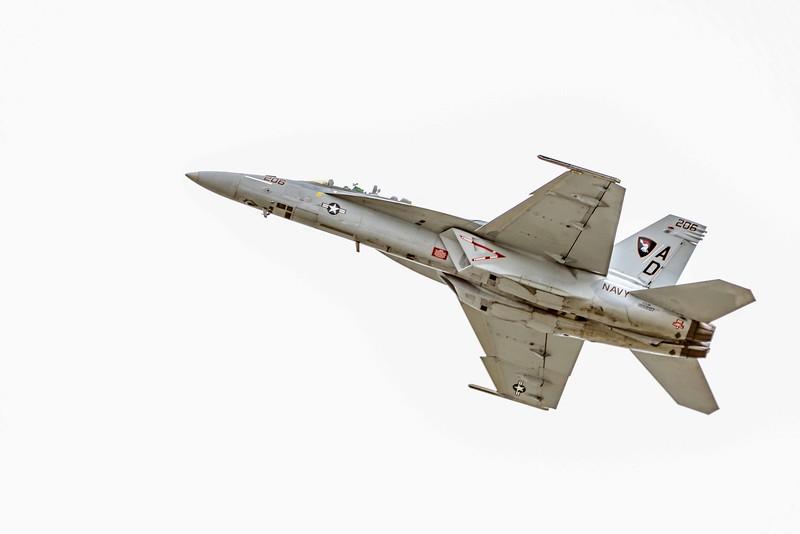 F-18F SuperHornet Cleans Up - Note longer fuselage