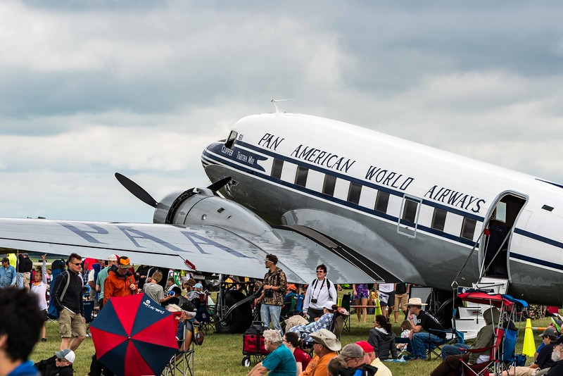DC-3 Tabitha May, in Post-War Pan Am livery.  Won 1st place in Transportation category at OSH16.