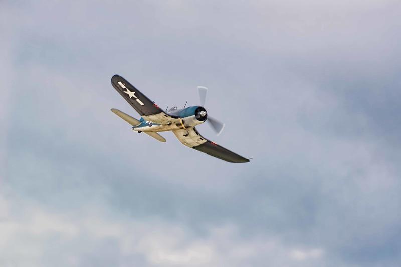 Vaught F4-U Corsair.  The gull wing allowed shorter landing gear, saving valuable wight.