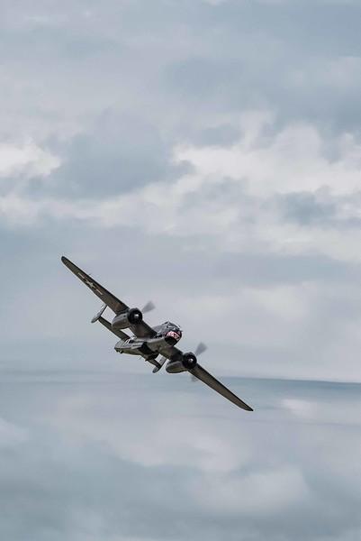 B-25 starts it's bombing run