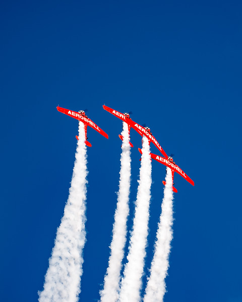 Aeroshell Acro Team goes over the top