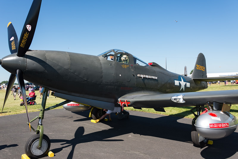 Three of 4 flayble P-63 King Cobras were at Oshkosh 17