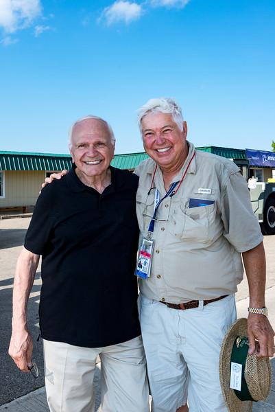 Tony Mazzolini, left, the man responsible for saving B-29  DOC