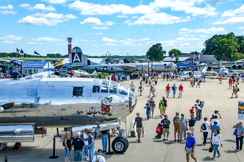 2 B-29s Together, Fisrt in 50 Years.  Osh17