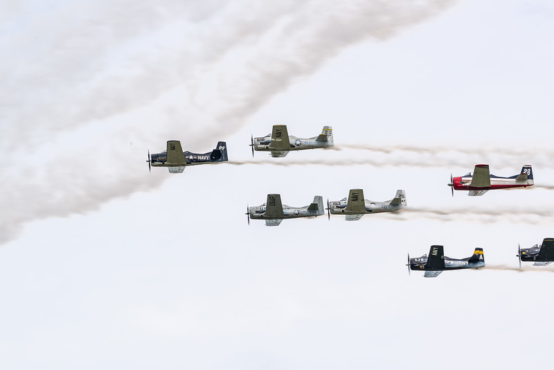 T-28s in airshow pass