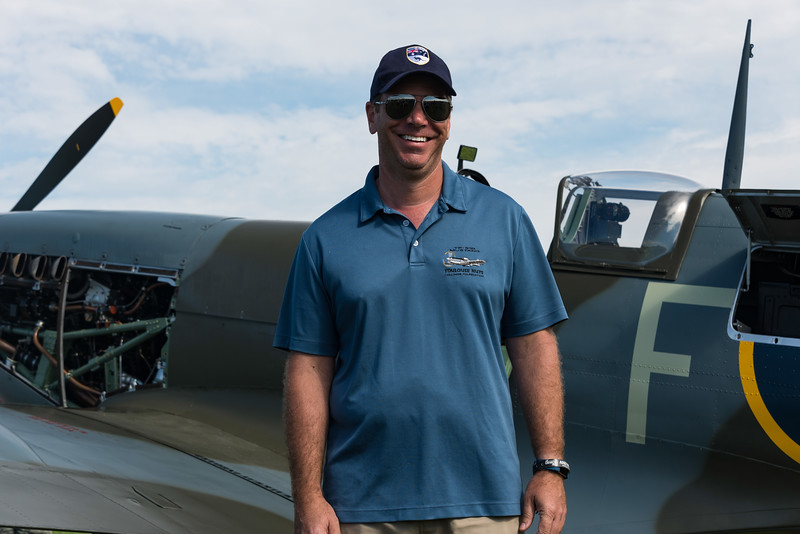 Tolouse Nuts, the original name found under the paint on this Vickers Spitfire, Won Reserve Grand Champion Warbird