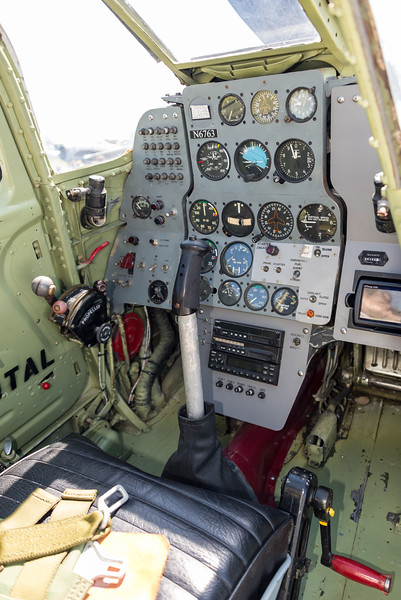 Bell P63 cockpit is tight with lots of structure blocking views, but is high above fuselage