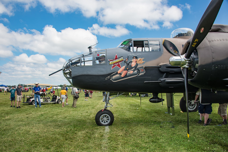 """North American B-25 Mitchell, """"Russian to Get Ya"""".  Many of the light bombers were given to allies during the war, including Russia"""