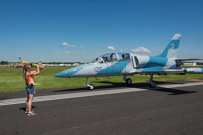 AERO VODOCHODY L-39 Being Parked on Warbird ramp after show