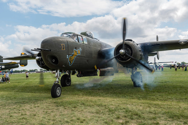 B-25 cranks #2.  G model replace nav/bomb none with 75MM gun.