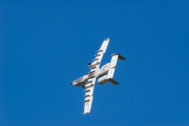 A-10 Warthog breaks for landing