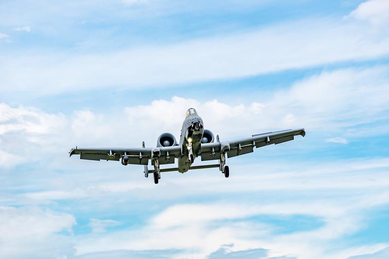 A-10 Warthog on short final at Oshkosh 17
