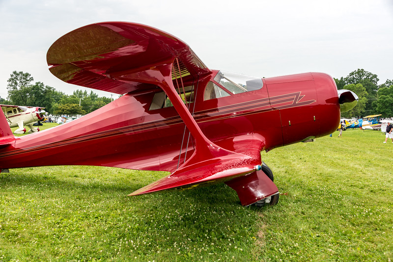 Beautiful Staggerwing with Art Deco lines