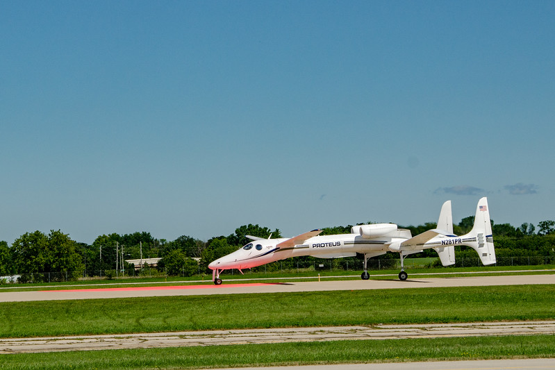 """Scaled Composites's """"Prometheus"""" on roll out."""