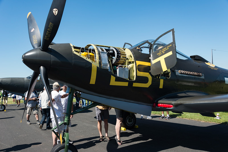 Bell P-63 KingCobra ready for judges inspection.  37MM rounds in view