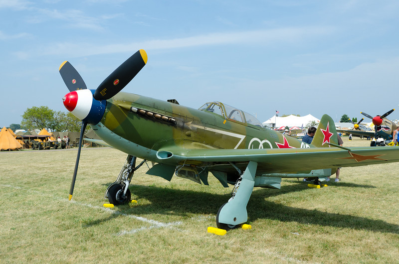 Yak 9 or Yak 3????? Soviet Fighter WW II, I think with a Merlin or Packard Engine