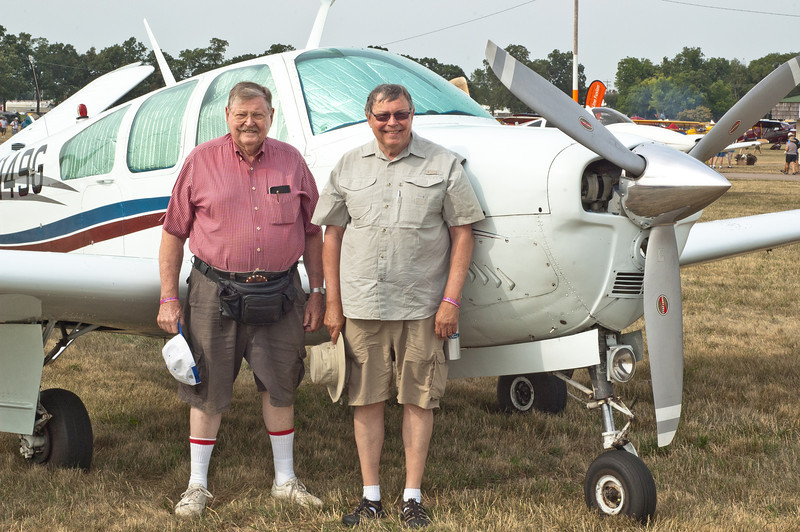 Don and Dave Smith, My Host at EAA, and their Bonanza