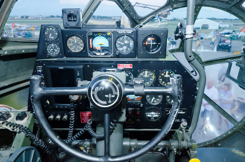 """Cockpit of the Boeing B-29, """"FiFi"""""""