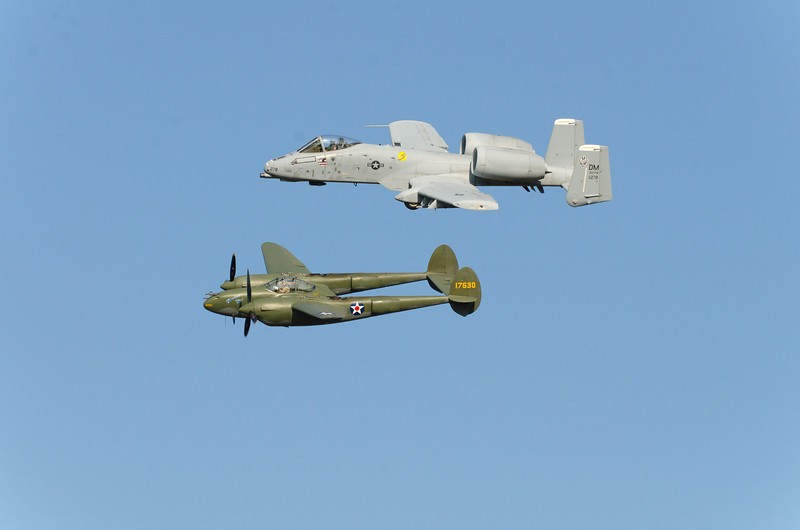 Two Lightnings - P-38 and A-10
