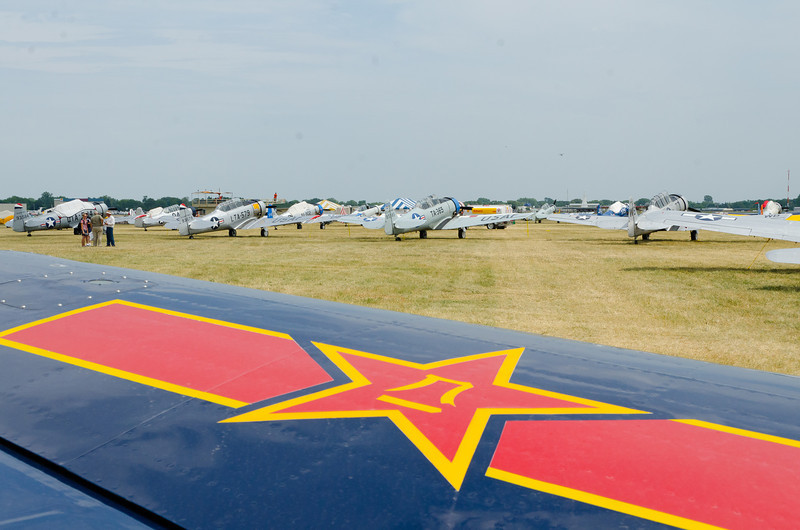 The T-6 Texan Fleet - about 15 to 20.